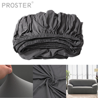 PROSTER Removable Stretch Couch Sofa Lounge Covers Recliner Double Seater Dining Chair Cover Grey Love Seat Patio Furniture