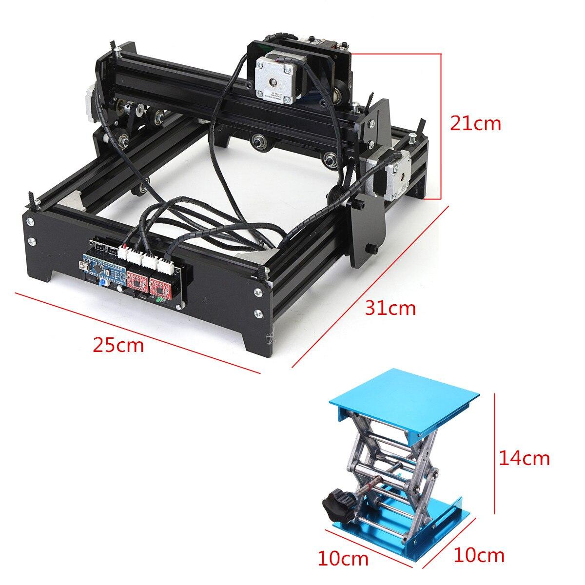 12 w 12000 mW 12 v bricolage CNC graveur Laser USB métal pierre gravure Machine bureau bois routeur/Cutter/imprimante pour Windows 7/8/10 - 5