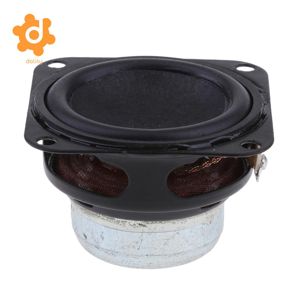 dolity 40mm 4Ohm 6W Full Range Audio Speaker Square Loudspeaker Rubber Edge
