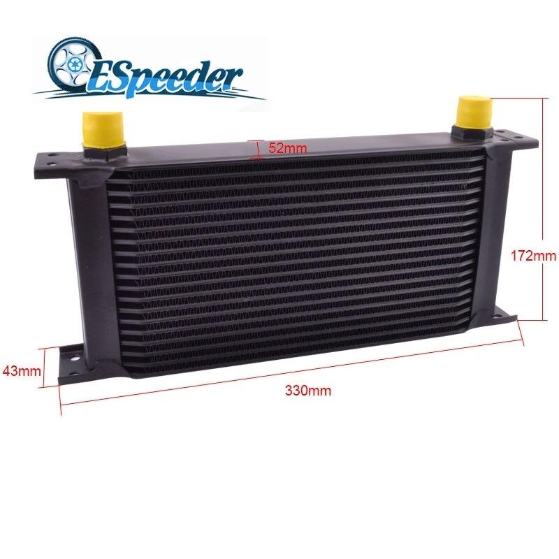 ESPEEDER 19 Row 10AN British Type Oil Cooler Aluminum Engine Transmission Cooler Radiating System Universal Car Accessories