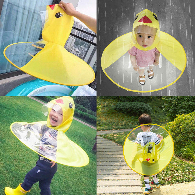 Children Kids Cartoon RainCoat Funny Raincoat Baby Rainwear Waterproof Rainsuit
