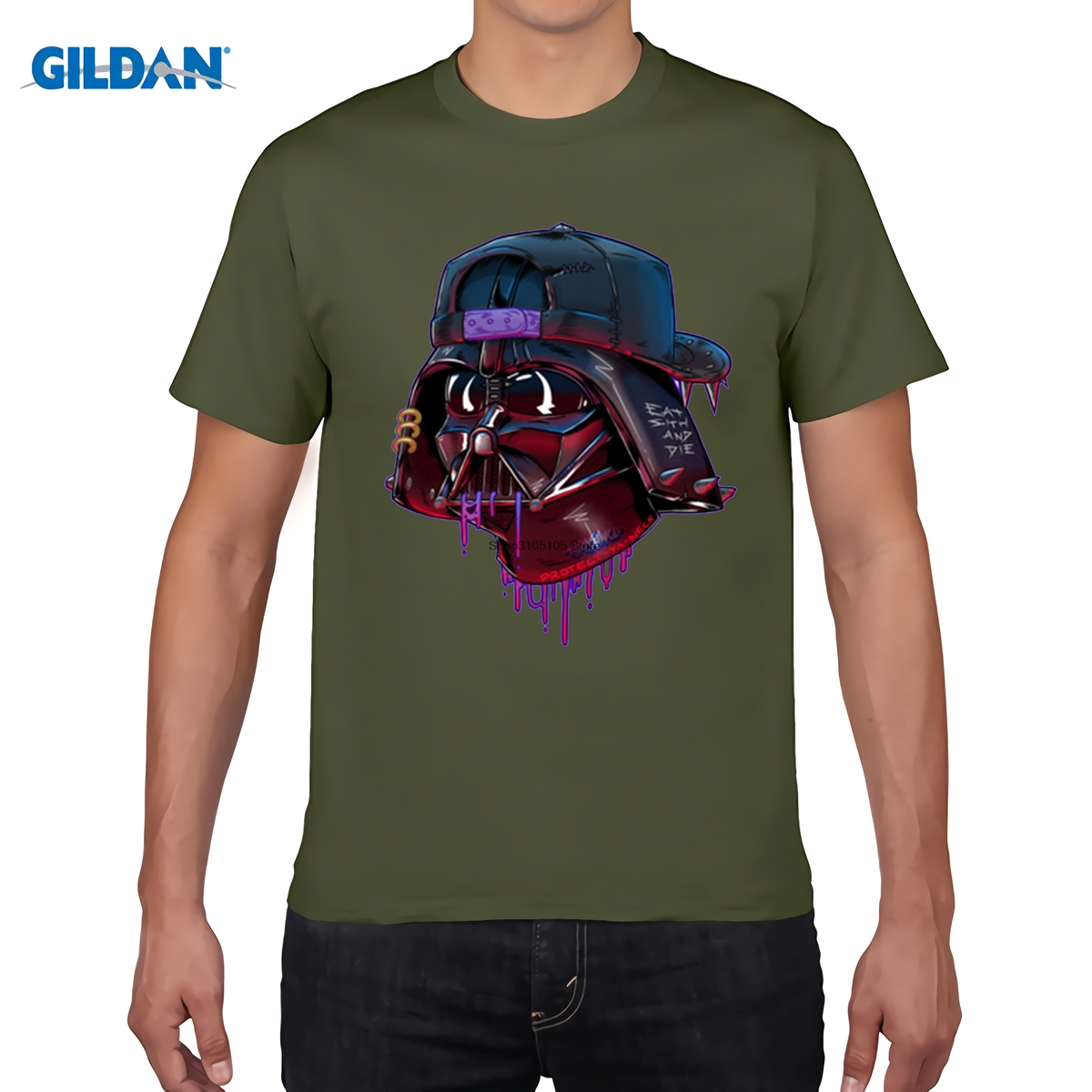 GILDAN  Darth Vader T Shirt Men short sleeve Shirts Distinct printed fashion comic Tops