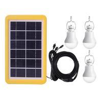 태양 전지 패널과 3 태양 충전 라이트 램프 휴대용 정원 전구 세트 5 m 케이블 3 pcs 3.5 m 분기 케이블 야외 led 조명