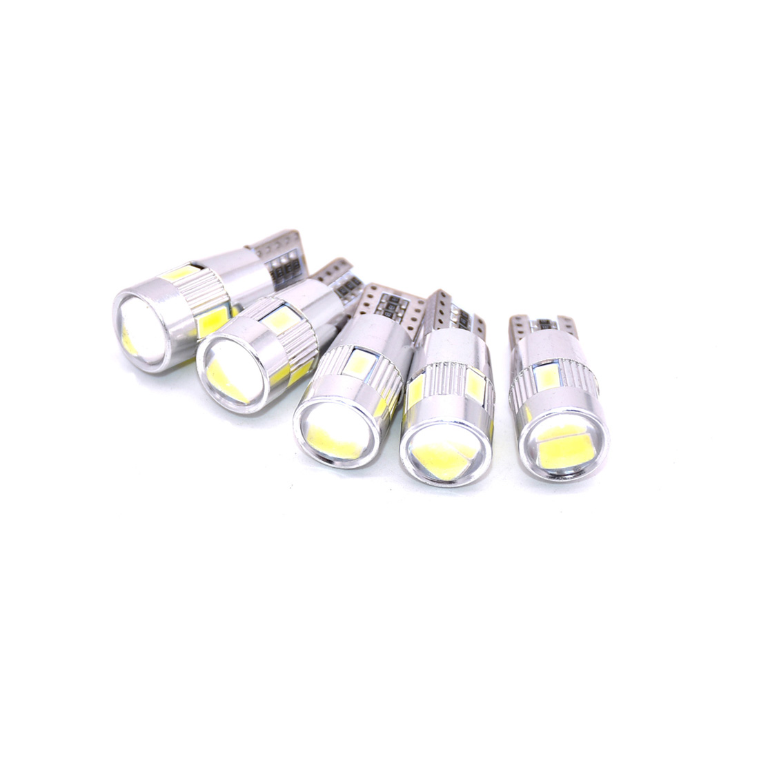 T10 W5W Car <font><b>LED</b></font> Turn Signal Bulb <font><b>Canbus</b></font> Auto Interior Dome Reading Light Wedge Side Parking Reverse Brake Lamp <font><b>5W5</b></font> 5630 6smd image