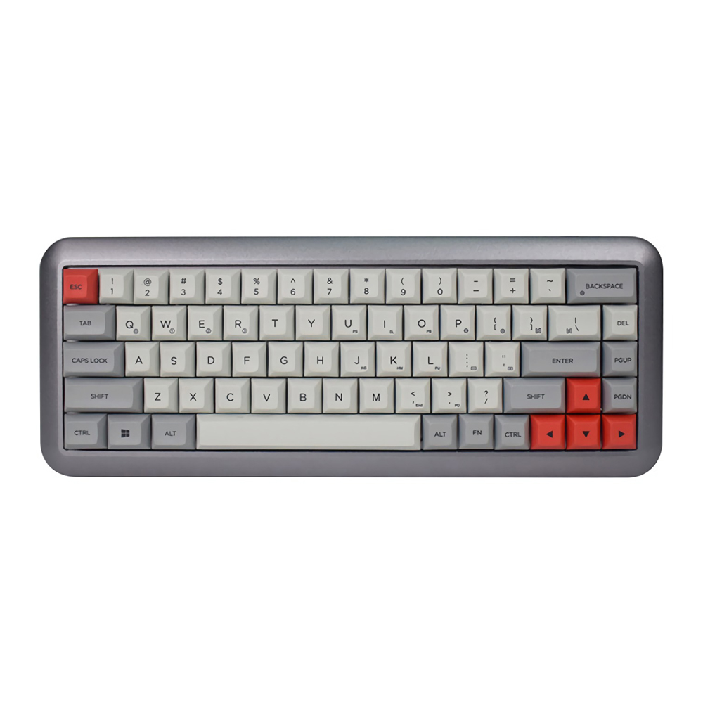 GK68 <font><b>68</b></font> Key Gateron Switch DSA Profile Dye-sub PBT <font><b>Keycaps</b></font> Hot-swappable Type-C Wired Mechanical Gaming Keyboard for-Mac OS Wins image