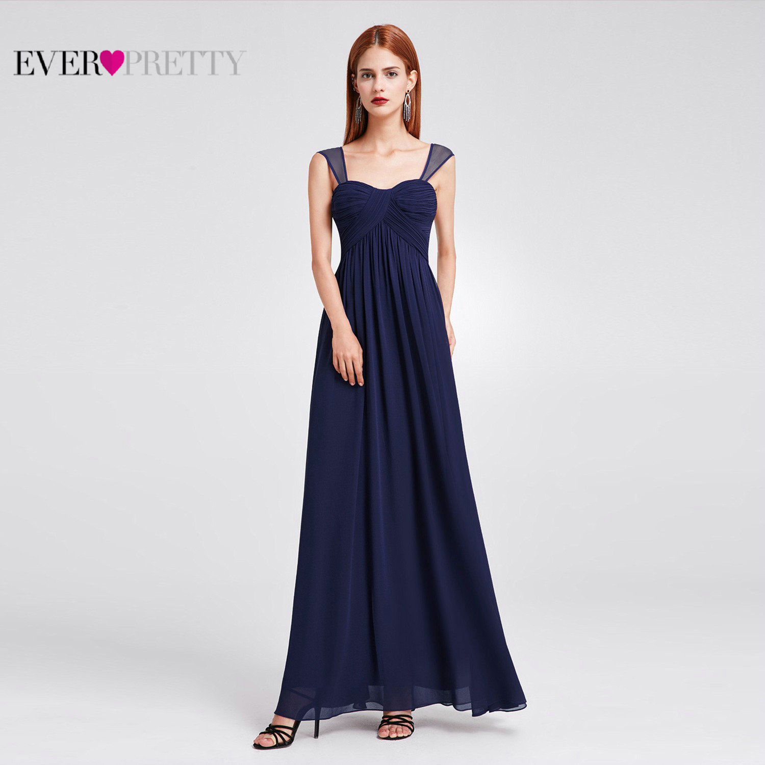 Ever-pretty Women Double V-neck Dress Formal Evening Celebrity Pageant Prom Gown
