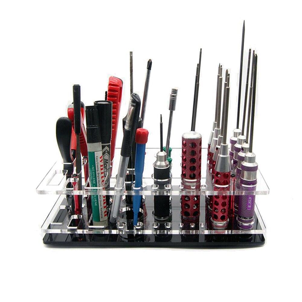 RC Screwdriver Shelf Hex Screwdriver Tool Kit Stand Holder FPV Tool Storage Rack