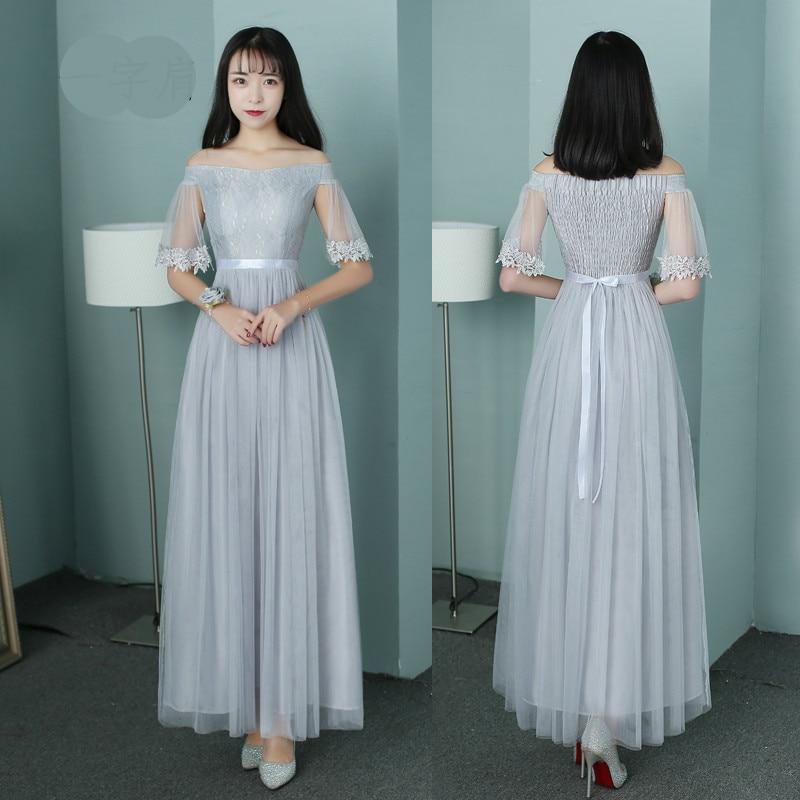 US $38.0  2019 New DIY Plus Size bridesmaid Dress Champagne Graduation  Dresses Pink Gray Vestido Size 2 to Size 16 SA1939-in Bridesmaid Dresses  from ...