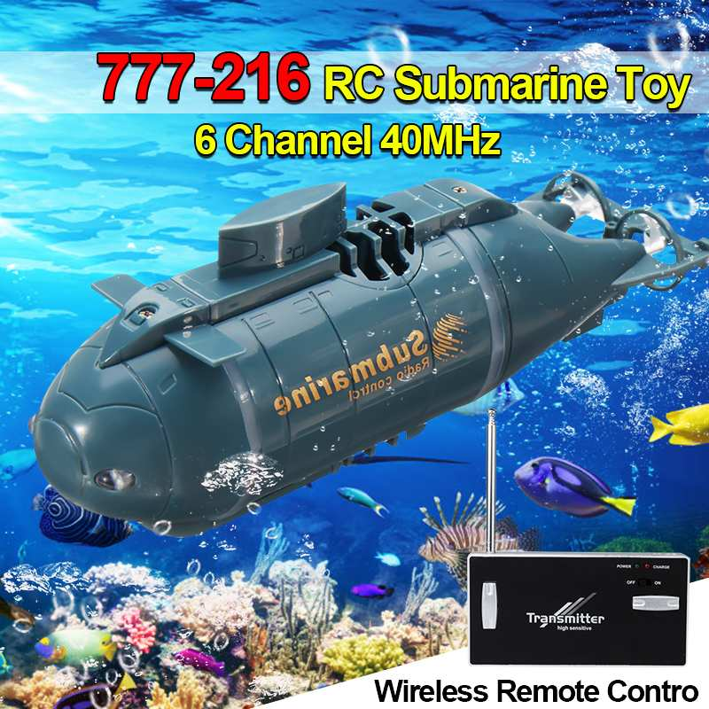 Mini RC Submarine Speed Boat Remote Control Drone Pigboat Simulation Model Gift Toy Kids With 40MHz Transmitter 6 Channels image