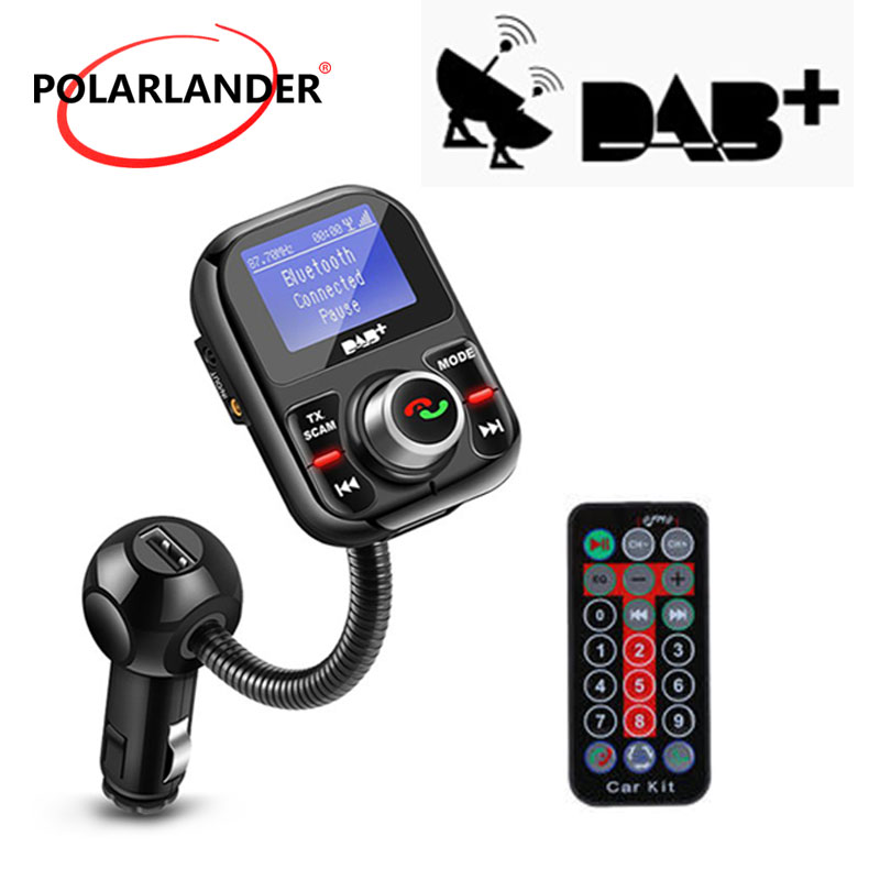 Affichage LCD TF USB Bluetooth antenne Ports de charge Kit de voiture lecteur MP3 FM transmetteur mains libres numérique DAB/DAB + récepteur