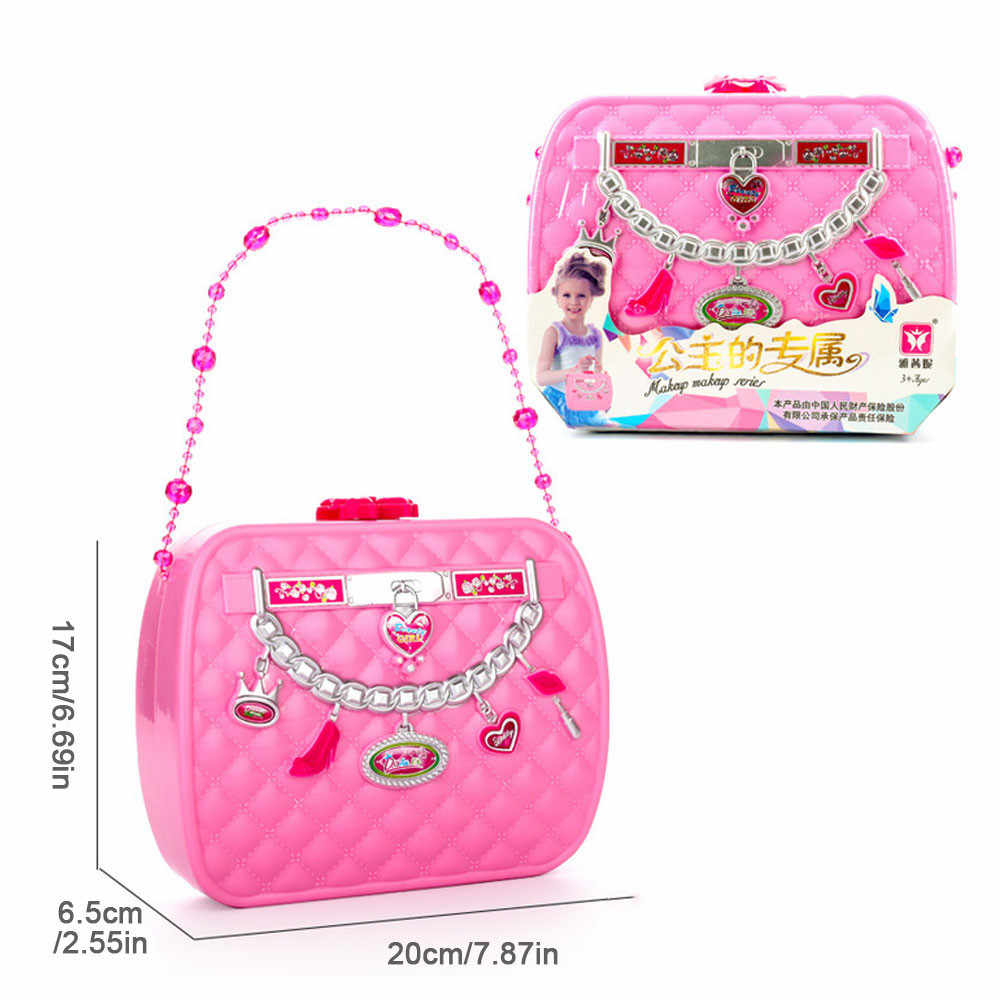 f082ff49362e Kids Make Up Toy Set Pretend Play Princess Pink Makeup Beauty Safety  Non-toxic Kit Toys for Girls Dressing Cosmetic Travel Box