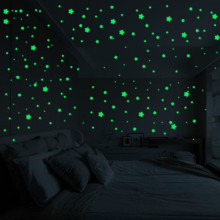 450/500 шт./компл. световой принты; зимние детские носки со звездами, в крапинку, в наклейки детская Спальня флуоресцентный игрушка раскраска ПВХ светятся в темноте игрушки украшения детской комнаты