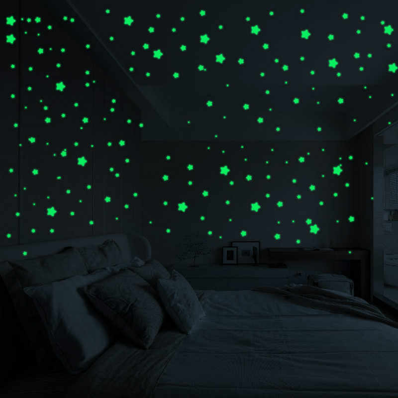 450/500pcs/set Luminous Star Dot Stickers Children Bedroom Fluorescent Painting Toy PVC Glow in Dark Toys Kids Room Decorations