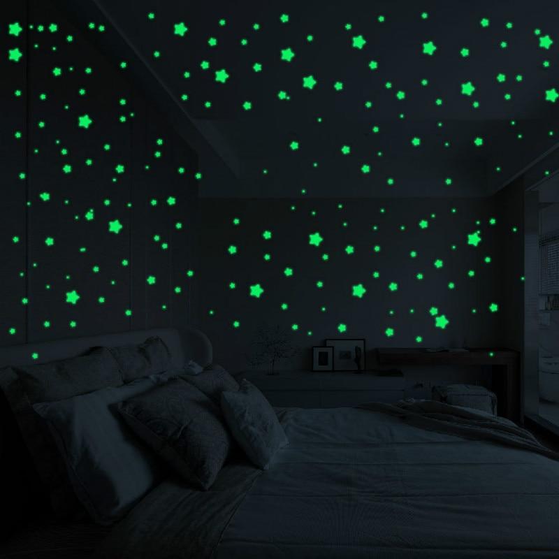 Childrens Bedroom Glow in the Dark Stars 24 pieces