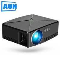 AUN Smart Projector C80, 1280x720 Resolution, (Optional Android version WIFI. C80 UP) MINI Projector for Home Theater. LED TV