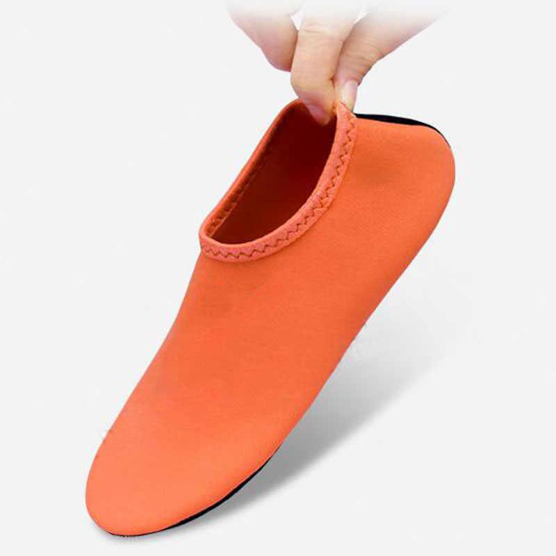 Lato plaża buty do wody dla buty do pływania mężczyzn, kobiet, nie-Slip kapcie na morze joga Fitness taniec Surfing skarpety nurkowe buty