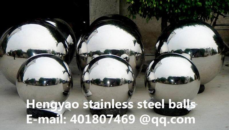 Argent Dia 500mm 50 cm 201 en acier inoxydable boule creuse sans soudure miroir boule famille cour décoration intérieure décoration