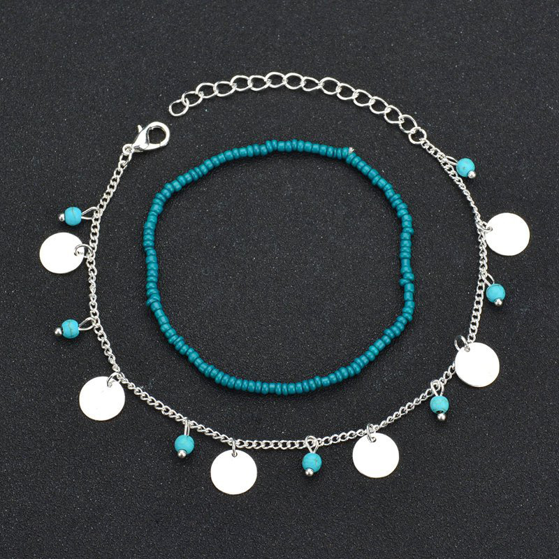 LNRRABC Bohemian Beads Ankle Bracelet for Women Leg Chain Round Tassel Foot Jewelry Accessories tobilleras pulsera para tobillo in Anklets from Jewelry Accessories