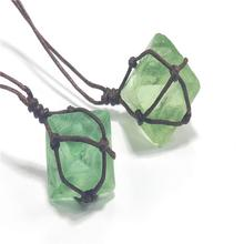 Natural Stone Amulet Healing Crystal Pendant Necklace Pendant Natural Gem Stone Quartz Bullet Blue-green Gemstone Fast Delivery купить дешево онлайн