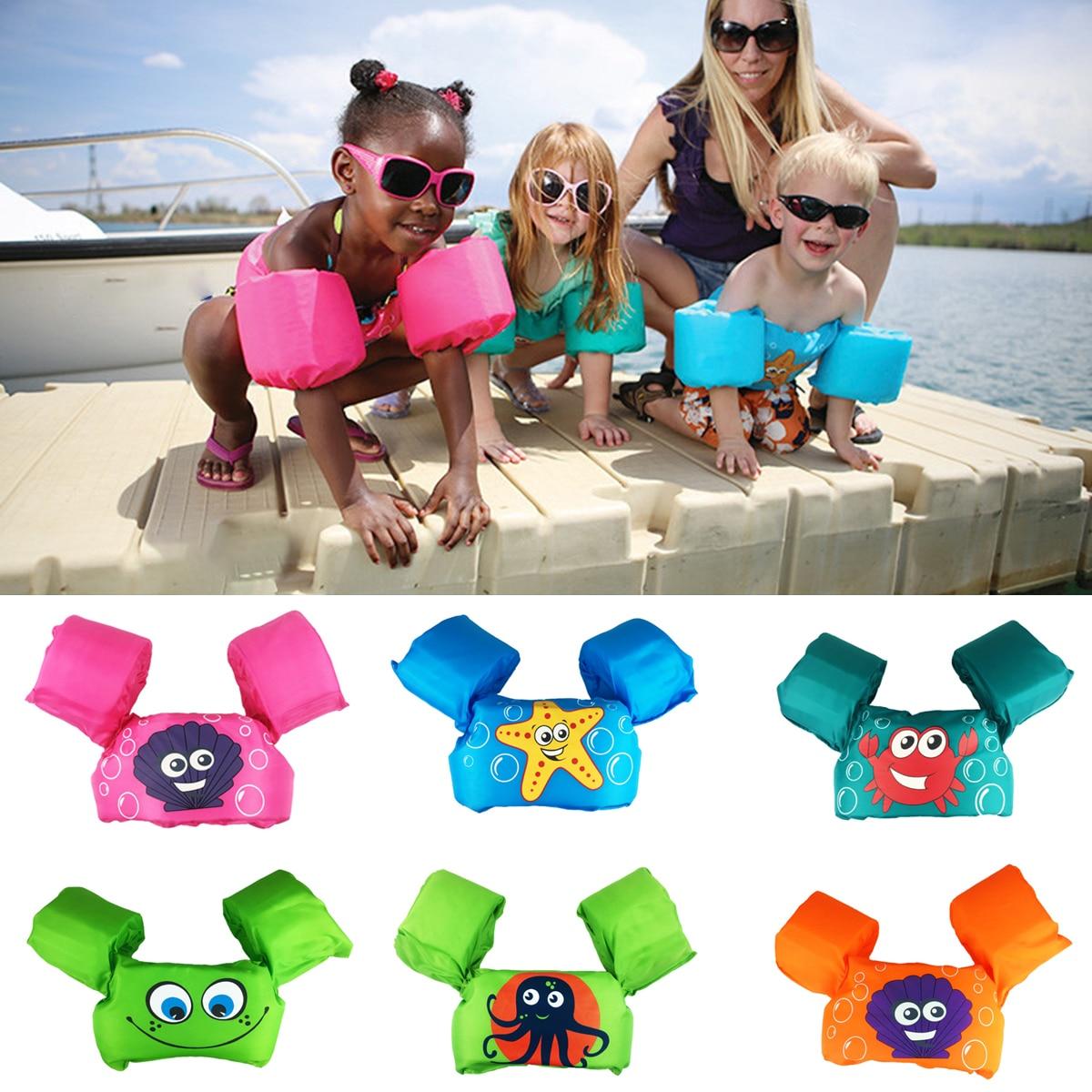 Anéis de natação Float Tubo Braço Mangas Puddle Jumper Bebê Dos Desenhos Animados Anel Da Nadada Vida Colete Jaquetas Braçadeiras de Natação Brinquedos Piscina de Espuma