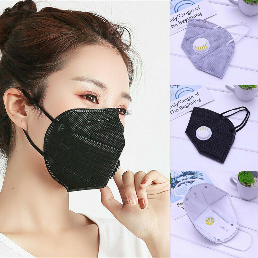 2019 Nuevo Caliente 5 Piezas Unisex Al Aire Libre Anti Humo Polvo Purificador De Aire Máscara Facial Filtro De Carbono Multicapa