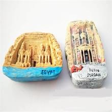 Lychee Egypt Resin Fridge Magnet Creative 3D Landscape Refrigerator Magnetic Sticker Travel Souvenirs Home Decoration