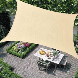 Sand 300D 160GSM Polyester Oxford Fabric Rectangle Shade Sail Sun