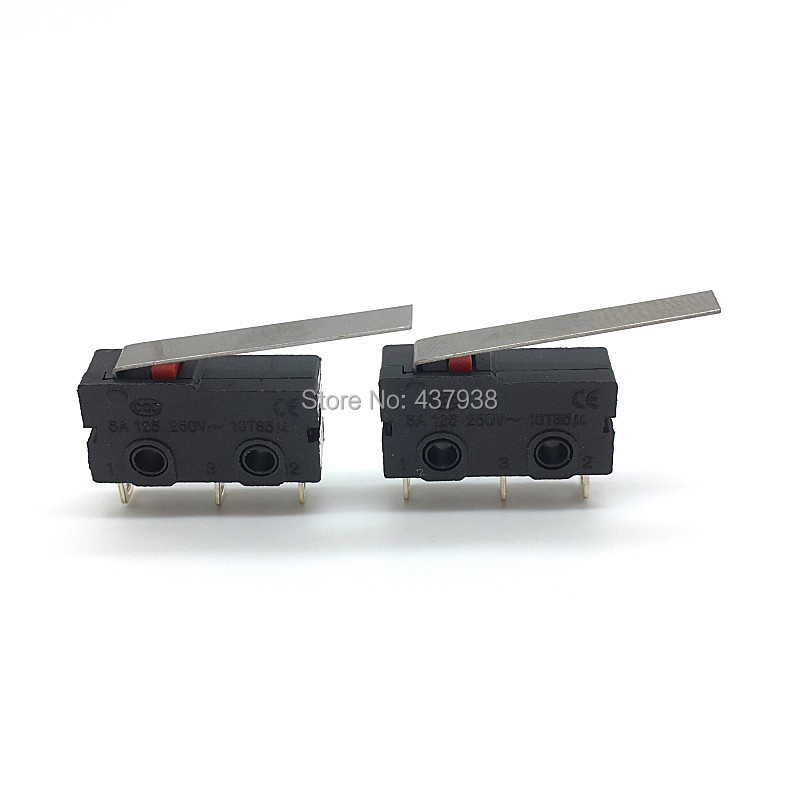 Image 4 - 10PCS Mini Micro Switch Roller ARC Lever SPDT Snap Action 3A 250V AC 5A 125V NC NO C With Pulley 3 Pins Stroke Limit Switch-in Switches from Lights & Lighting
