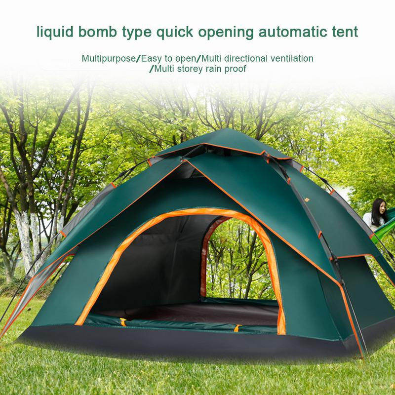3-4 Person Automatic Throw Tent Outdoor Throwing Pop Up Waterproof Camping Hiking Large Family Tents Sun-proof Dual-Door Picnic3-4 Person Automatic Throw Tent Outdoor Throwing Pop Up Waterproof Camping Hiking Large Family Tents Sun-proof Dual-Door Picnic