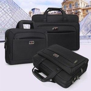 """Image 2 - Erkek çanta iş evrak çantası büyük kapasiteli erkekler tek omuz çantası 14 """"15.6"""" 16 """"dizüstü bilgisayar çantası HP Dell Lenovo Apple Ipad"""