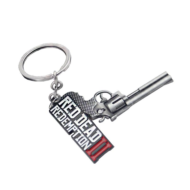 Wilderness Darts 2 Keychains Game Red Dead Redemption Keyrings Gun Toy Chaveiro Bag Jewelry Souvenir Llaveros