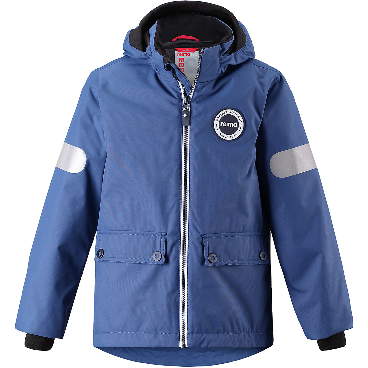 REIMA Jackets 8689281 For boys Polyester  winter fur baby clothing boy Jacket faux fur collar zip up pu leather jacket
