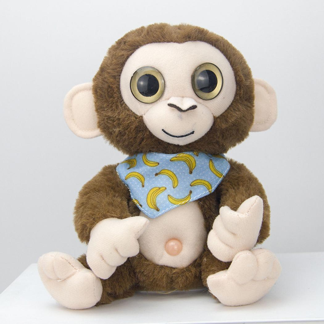 Creative Mimicry Pet Talking Monkey Repeats What You Say Electronic Plush Toy Cute Kawaii Soft Sleep Birthday Gift 5