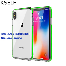 KSELF Transparent Soft TPU Case For iPhone 7 Plus 8 6 6S XS MAX Crystal Silicone Clear Shock Resistan iphone X XR Cove