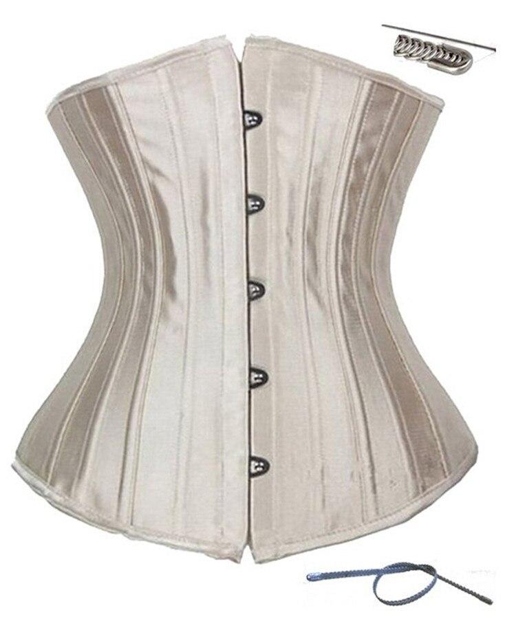 Steel Boned Steampunk Corset Bustier Women Underbust Waist Cincher Body Shaper