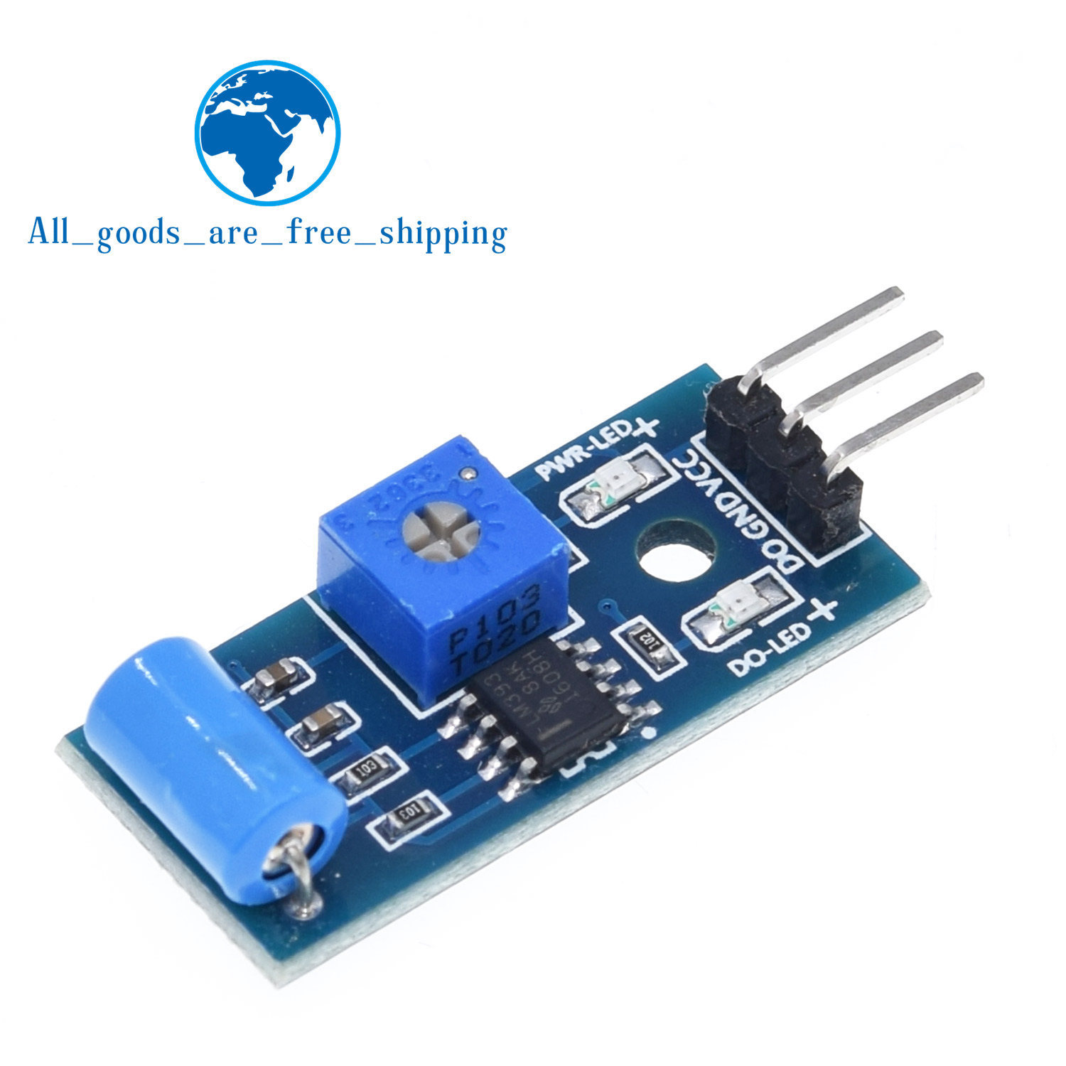 Normally closed type vibration sensor module Alarm sensor module Vibration switch SW-420 for arduino