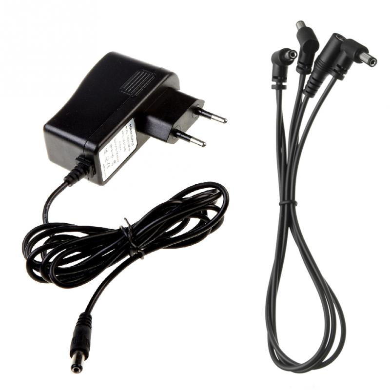 black power supply noise isolation 9v dc 2000ma adapter for guitar effect pedal in guitar parts. Black Bedroom Furniture Sets. Home Design Ideas