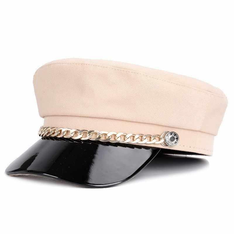 Nữ Satin Thiếu Sinh Quân Nón Thời Trang Nữ Newsboy Nắp Thu Đông Da Áo Mũ Nồi Mũ Cáy Nắp