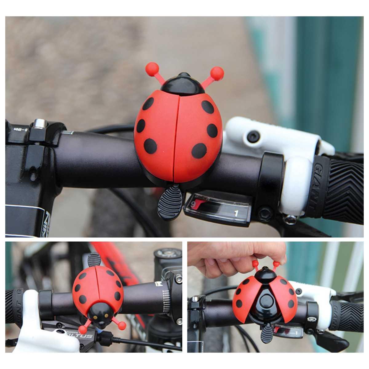 Bells Bike Bicycle Aluminum Animals Kids ladybird elephant bear