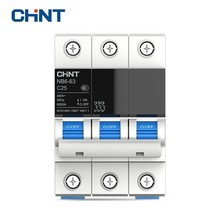 CHINT Miniature Circuit Breaker Overload Protection TaiChi NB6-63 3P Series Household Air Switch 25A 32A 40A 50A 63A [zob] nader ndb2 63 c50 3 of2 longsure breaker 3p 50a to ensure genuine 5pcs lot