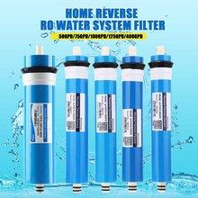 50/75/100/125/400GPD ev mutfak ters osmoz RO membran değiştirme su sistemi filtre su arıtıcısı içme arıtma
