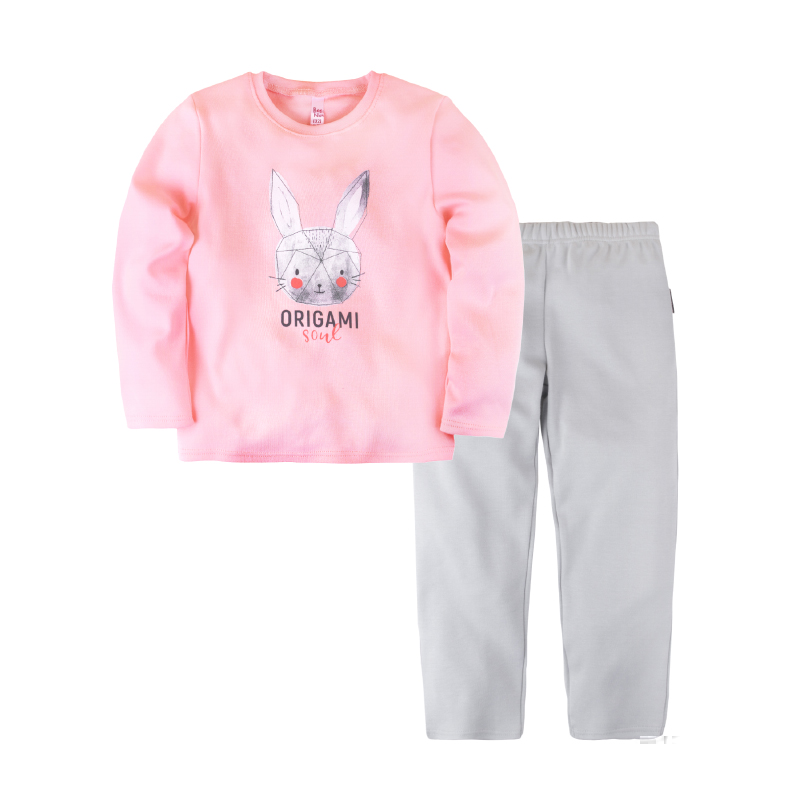 Pajama set shirt+pants for girls BOSSA NOVA 362o-361r pajama pants and jumper friends 3 8g 95% cotton 5% elastane