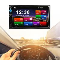 7 Inch MP5 Car MP5 Player HD Bluetooth Universal Vehicle Mounted MP5 USB TF Card Touch Screen Auto Audio Stereo Player 7020