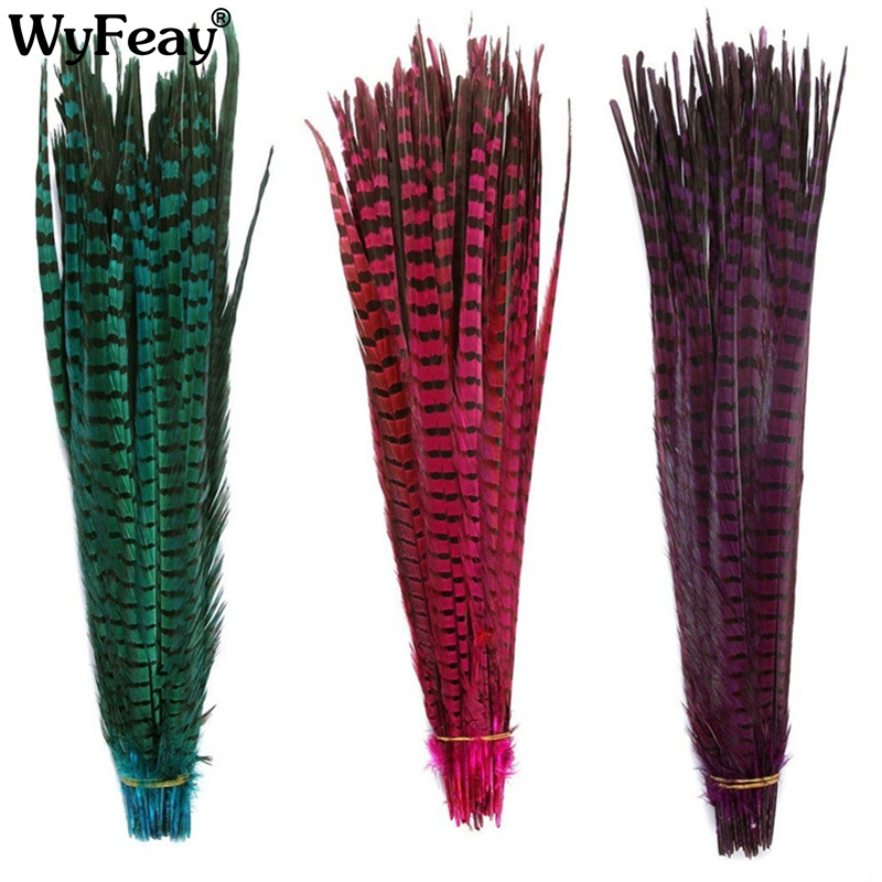 50Pcs 50 55CM 20 22 Inch Natural Pheasant Tail Feathers DIY jewelry Carnival clothing Wedding Decorations