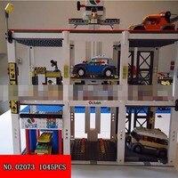 New 02073 City Series Automation Parking Lot Children Spelling Insert Assembling Building Blocks Small Grain Toys 1040pcs