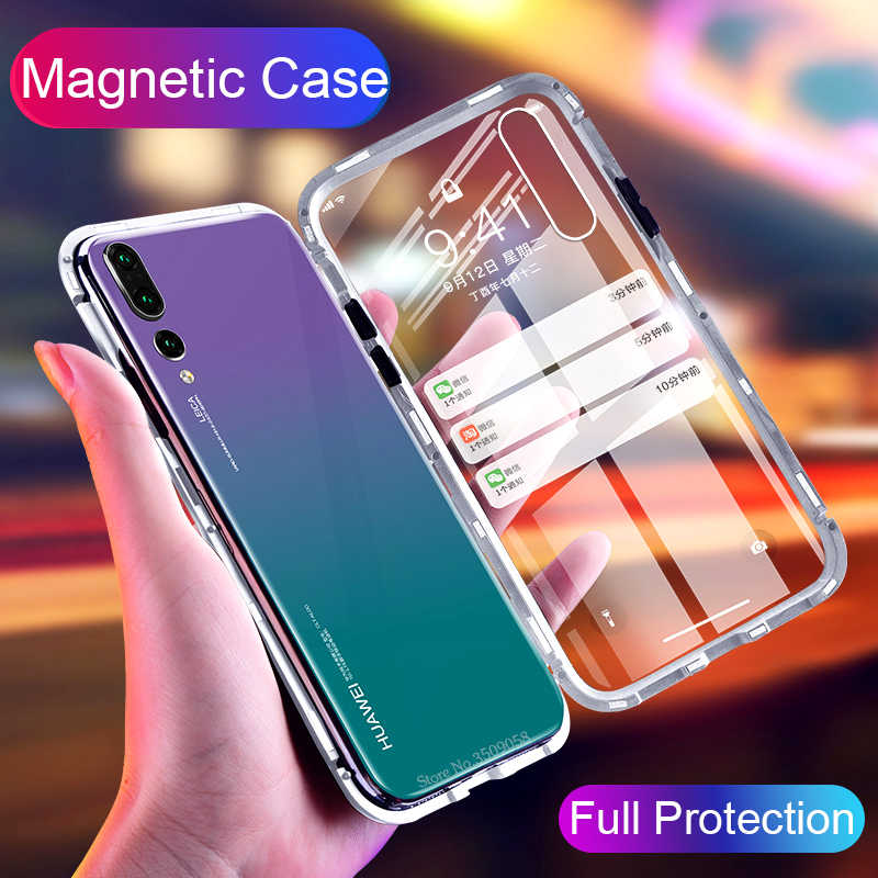 Magnetic Adsorption Case for Samsung Galaxy Note 9 8 S9 S8 Plus Shell Cover for Huawei P 20 P20 Lite Pro honor 8X Coque Funda