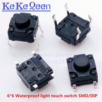 100 PCS wodoodporna 6*6*4 3 4 5 5 5 5 6 6 5 7 7 5 8 8 5 9 10 14mm światła przełącznik dotykowy patch 4 stopy micro stacyjka SMD-4 DIP-4 tanie i dobre opinie Przełączniki none Mikroprzełącznik 6*6 waterproof switch Z tworzywa sztucznego KeKeQeen DIP-4 SMD-4 0 5MA