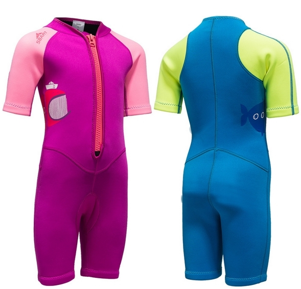 New 2MM Neoprene Kids Wetsuits One Pieces Diving Suits Snorkel Surfing Rash Guards Children Swimsuit surf dive Scubadiving in Wetsuit from Sports Entertainment