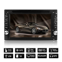 "6.2 ""GPS Navigatie HD 2DIN Bluetooth Car Stereo Dvd-speler Touch Screen Radio Stereo MP5 USB SD + Camera europese Kaart(China)"