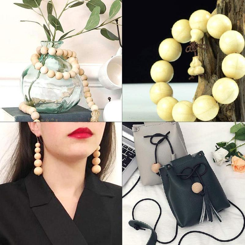 Natural Ball Round Spacer Lotus Wooden Beads Eco-friendly Natural Color Lead-free Wooden Balls Jewelry Accessories